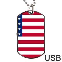 Usa1 Dog Tag USB Flash (One Side)