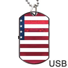 Usa2 Dog Tag Usb Flash (one Side)
