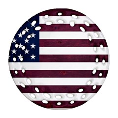 Usa4 Ornament (round Filigree)