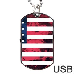Usa5 Dog Tag Usb Flash (one Side)