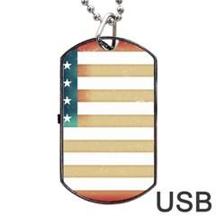 Usa7 Dog Tag USB Flash (One Side)