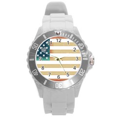 Usa7 Round Plastic Sport Watch (L)