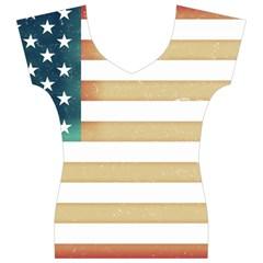 Usa7 Women s V-Neck Cap Sleeve Top