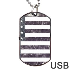 Usa9 Dog Tag Usb Flash (one Side)