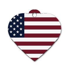 Usa999 Dog Tag Heart (One Side)