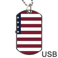 Usa999 Dog Tag Usb Flash (one Side)