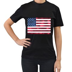 Usa9999 Women s T-Shirt (Black) (Two Sided)