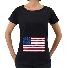 Usa9999 Women s Loose-Fit T-Shirt (Black)