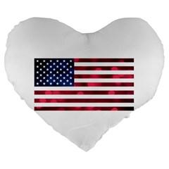 Usa9999 Large 19  Premium Flano Heart Shape Cushions