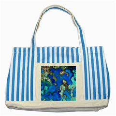 Cocos Reef Sinkholes Striped Blue Tote Bag