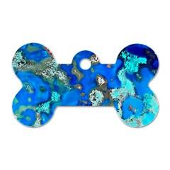 Cocos Reef Sinkholes Dog Tag Bone (One Side)