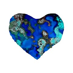 Cocos Reef Sinkholes Standard 16  Premium Heart Shape Cushions
