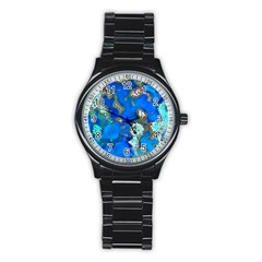 Cocos Reef Sinkholes Stainless Steel Round Watches