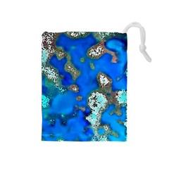 Cocos Reef Sinkholes Drawstring Pouches (Medium)