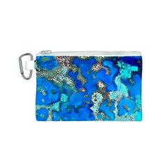 Cocos Reef Sinkholes Canvas Cosmetic Bag (S)