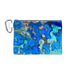 Cocos Reef Sinkholes Canvas Cosmetic Bag (M)