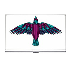 Stained Glass Bird Illustration  Business Card Holders