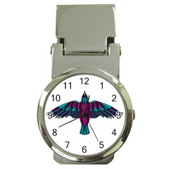 Stained Glass Bird Illustration  Money Clip Watches