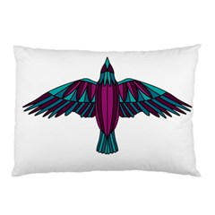 Stained Glass Bird Illustration  Pillow Cases