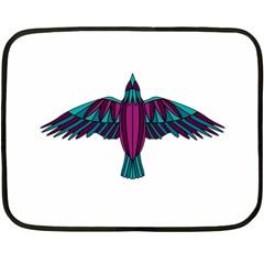 Stained Glass Bird Illustration  Fleece Blanket (mini)