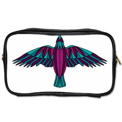 Stained Glass Bird Illustration  Toiletries Bags