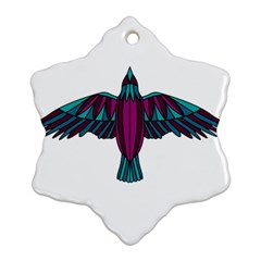 Stained Glass Bird Illustration  Ornament (snowflake)