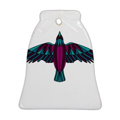 Stained Glass Bird Illustration  Bell Ornament (2 Sides)