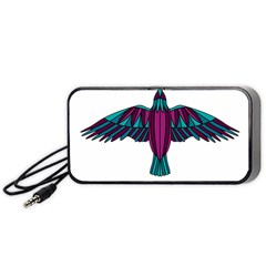 Stained Glass Bird Illustration  Portable Speaker (black)