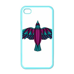 Stained Glass Bird Illustration  Apple iPhone 4 Case (Color)