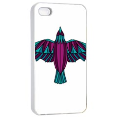 Stained Glass Bird Illustration  Apple Iphone 4/4s Seamless Case (white)