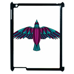 Stained Glass Bird Illustration  Apple iPad 2 Case (Black)