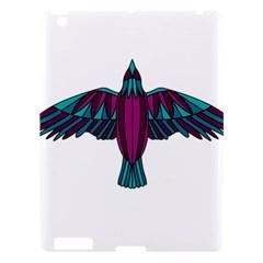 Stained Glass Bird Illustration  Apple iPad 3/4 Hardshell Case