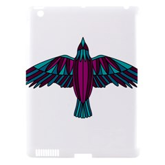 Stained Glass Bird Illustration  Apple iPad 3/4 Hardshell Case (Compatible with Smart Cover)