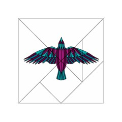 Stained Glass Bird Illustration  Acrylic Tangram Puzzle (4  x 4 )