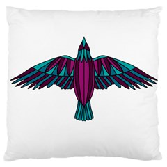 Stained Glass Bird Illustration  Large Cushion Cases (One Side)