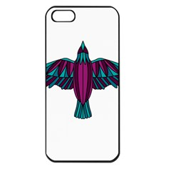 Stained Glass Bird Illustration  Apple iPhone 5 Seamless Case (Black)