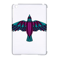 Stained Glass Bird Illustration  Apple iPad Mini Hardshell Case (Compatible with Smart Cover)