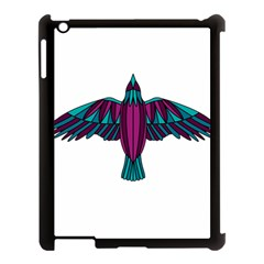 Stained Glass Bird Illustration  Apple iPad 3/4 Case (Black)