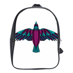 Stained Glass Bird Illustration  School Bags (xl)