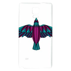 Stained Glass Bird Illustration  Galaxy Note 4 Back Case