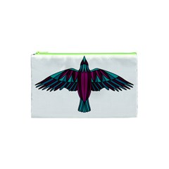 Stained Glass Bird Illustration  Cosmetic Bag (XS)