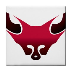 Fox Logo Red Gradient  Tile Coasters
