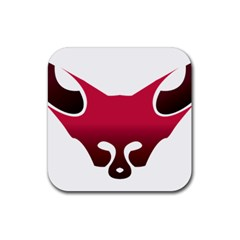 Fox Logo Red Gradient  Rubber Square Coaster (4 pack)