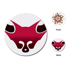 Fox Logo Red Gradient  Playing Cards (Round)