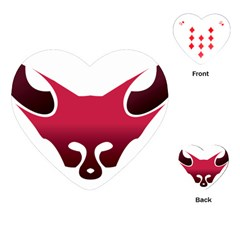 Fox Logo Red Gradient  Playing Cards (heart)