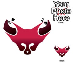 Fox Logo Red Gradient  Playing Cards 54 (Heart)