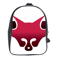 Fox Logo Red Gradient  School Bags(large)