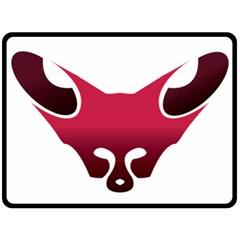 Fox Logo Red Gradient  Fleece Blanket (Large)
