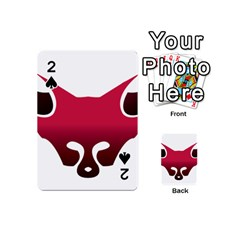 Fox Logo Red Gradient  Playing Cards 54 (mini)