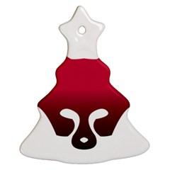 Fox Logo Red Gradient  Ornament (Christmas Tree)